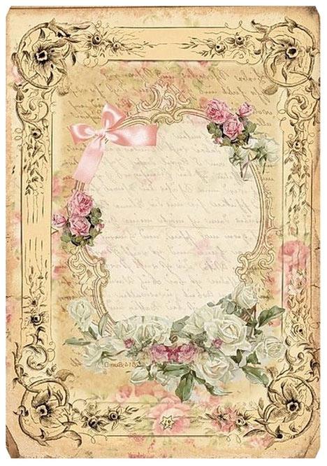 шаблоны листов красивой бумаги для письма