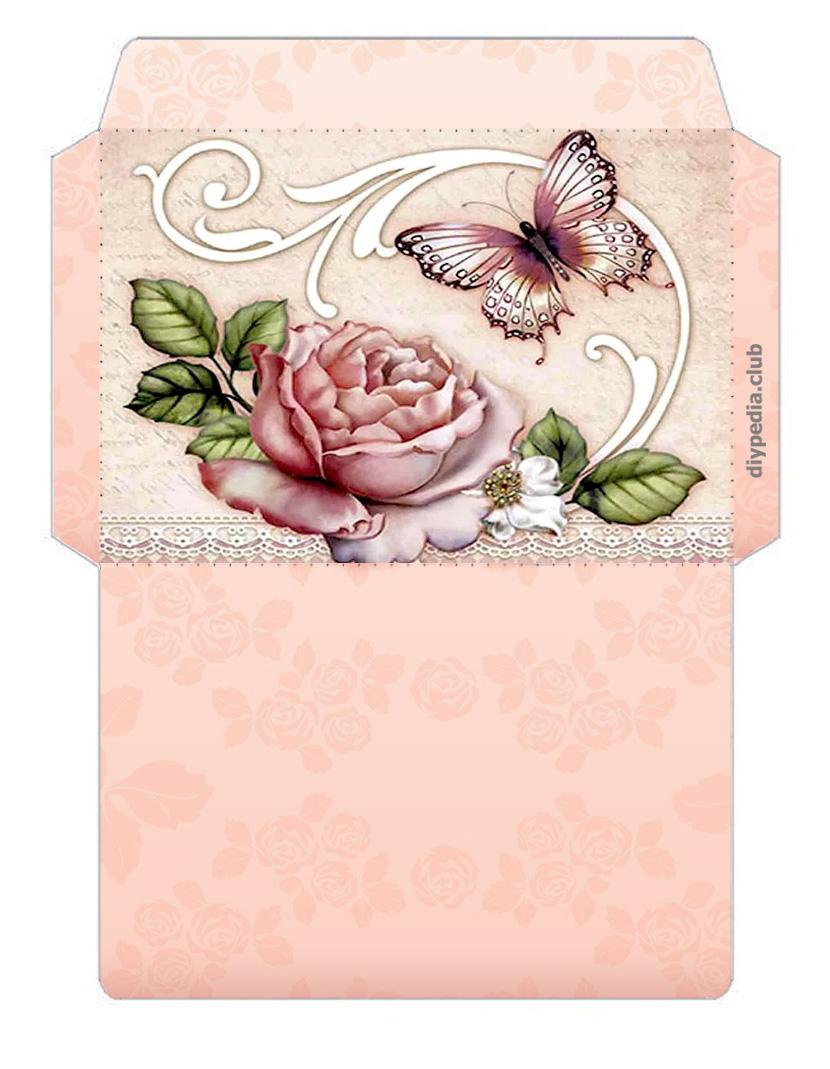 Напечатать открытку конверт с днем рождения