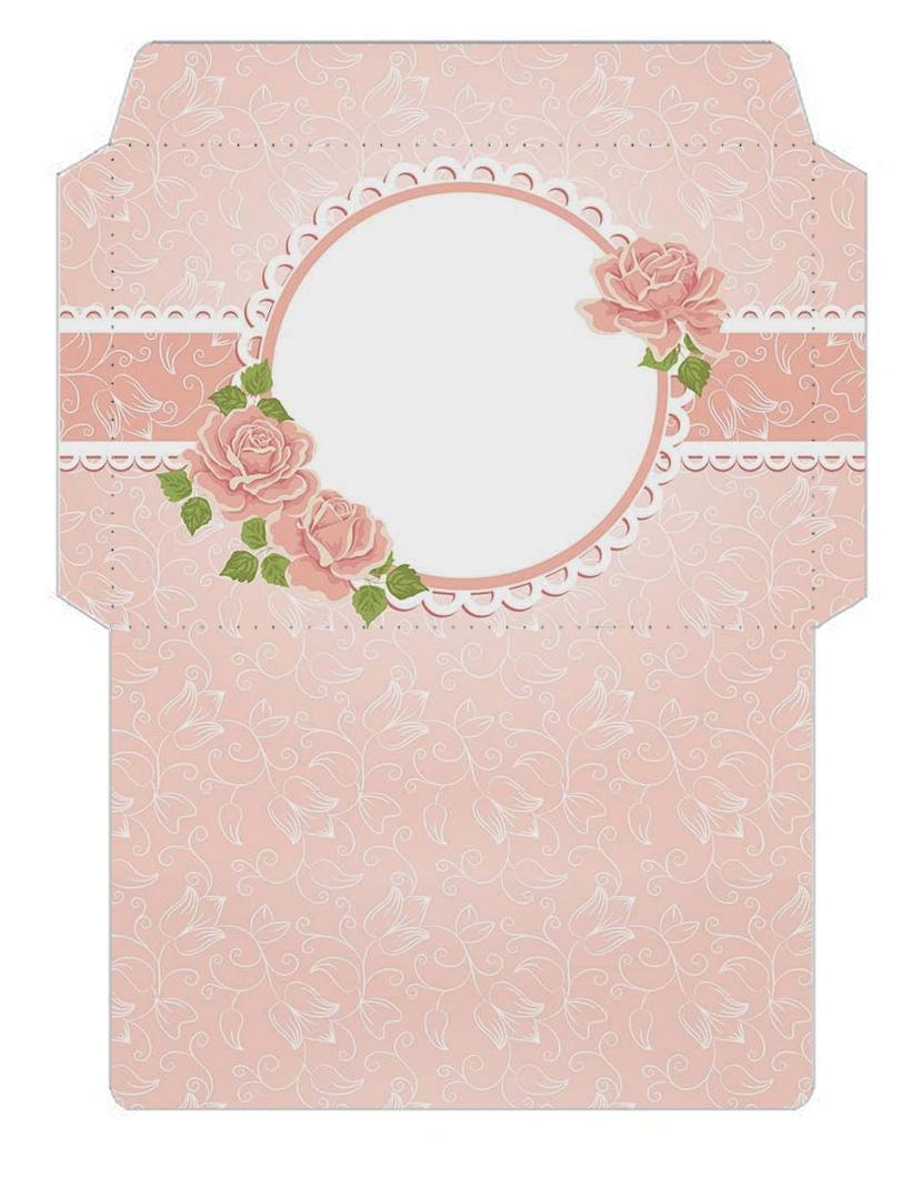 цветочные шаблоны конвертов из бумаги