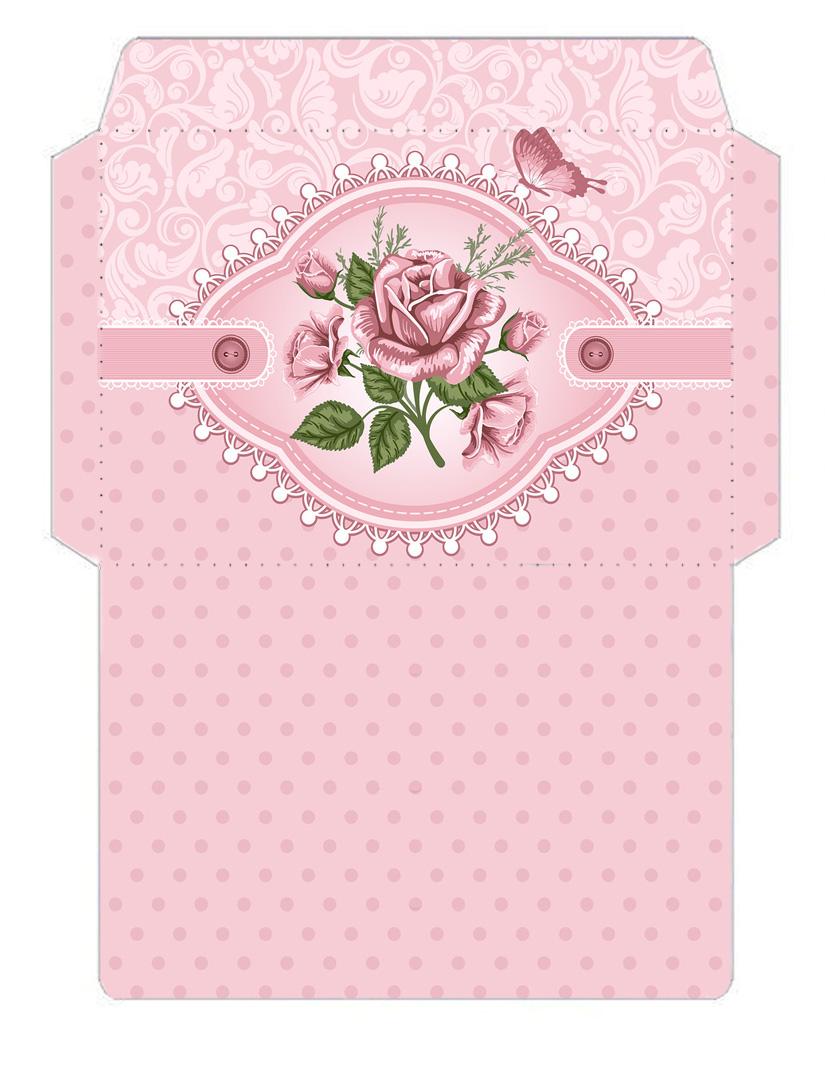 цветочные шаблоны для распечатки конвертов из бумаги