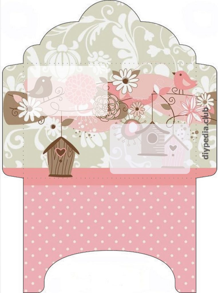 Floral Envelope Template