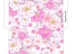 цветочные конверты для распечатки