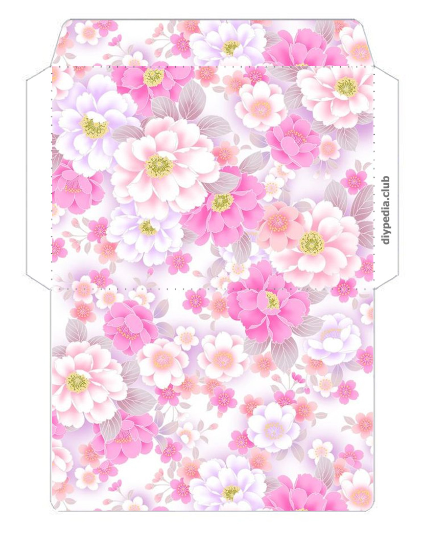 Floral envelope templates for printing