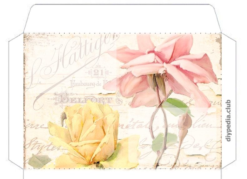 Floral envelope templates for printing (issue 3)