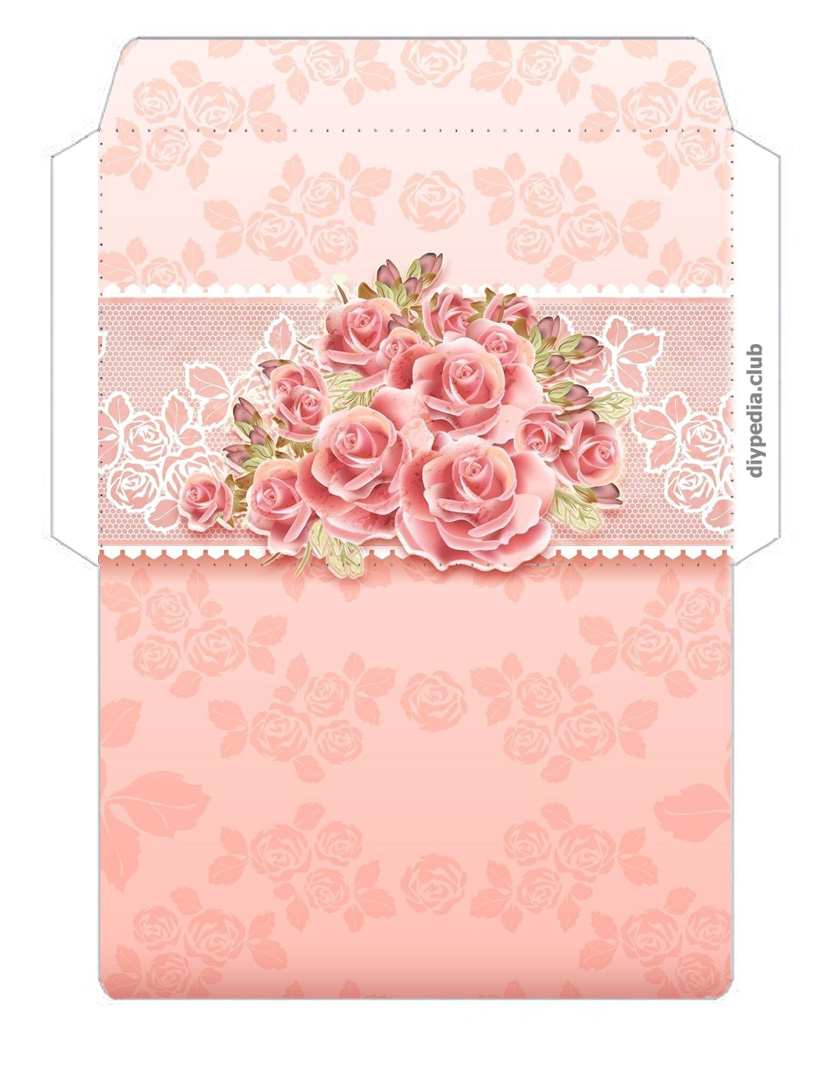Floral envelope templates for printing (issue 2)