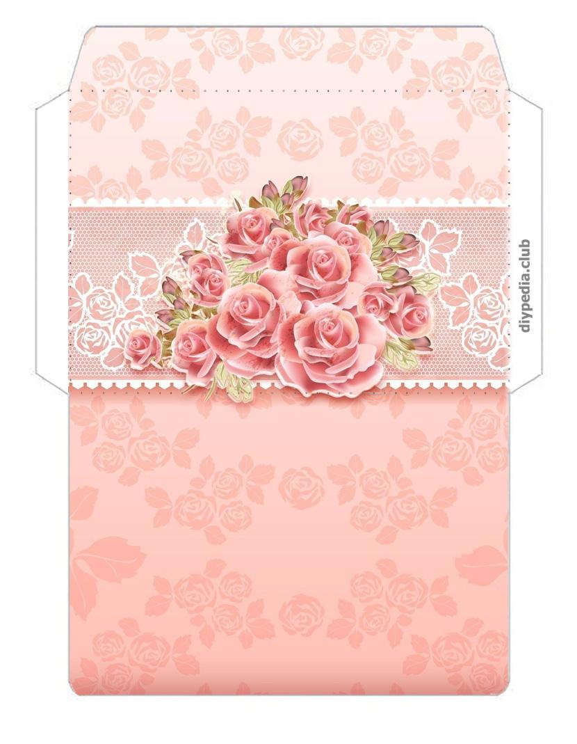 Цветочные шаблоны конвертов (выпуск 2)
