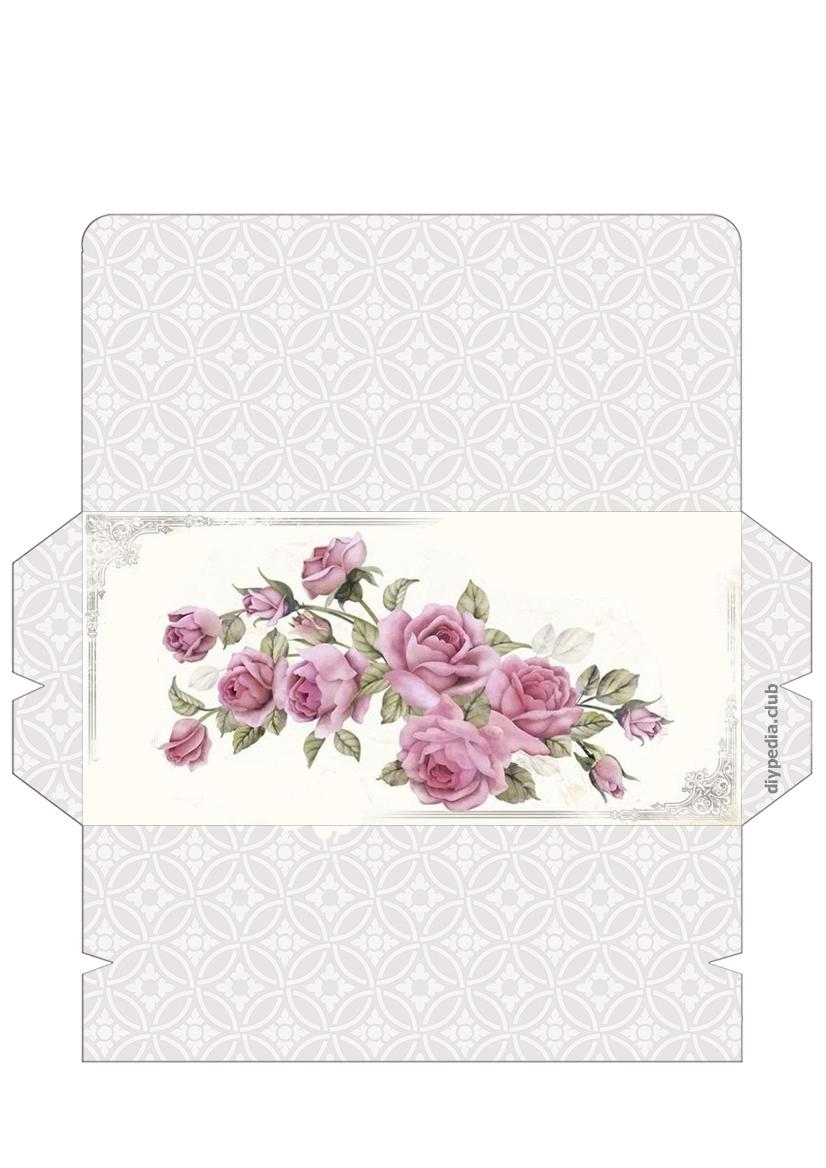 Винтажные шаблоны для распечатки конвертов из бумаги