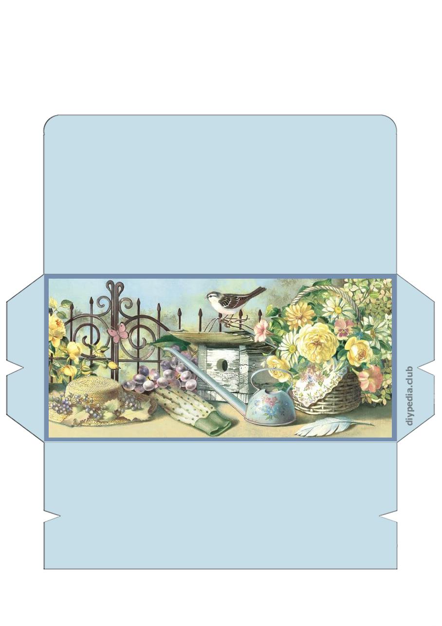 винтажный конверт для денег