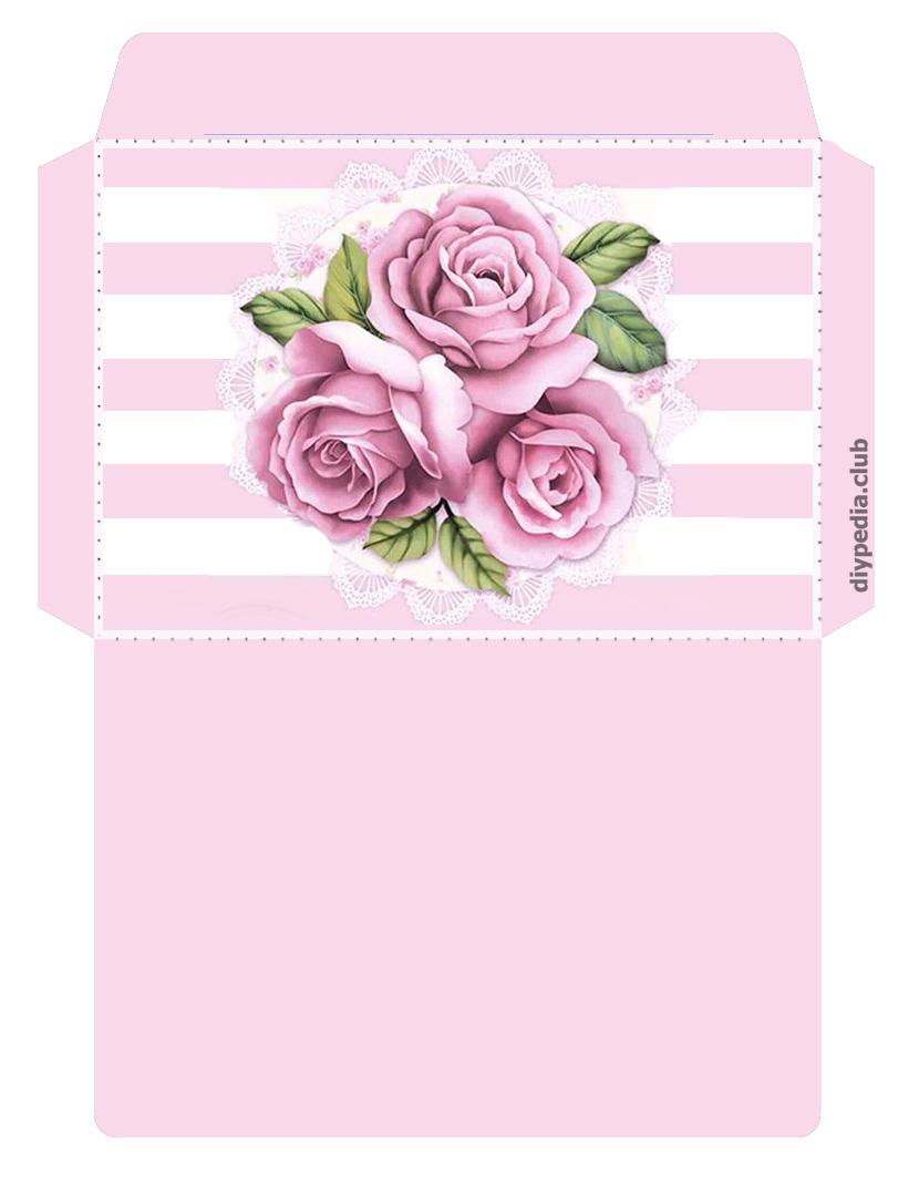 шаблон винтажного конверта