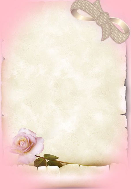 Wedding Paper for letters templates