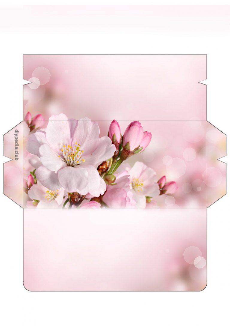 Цветы картинки, открытка конверт для денег с днем рождения шаблон