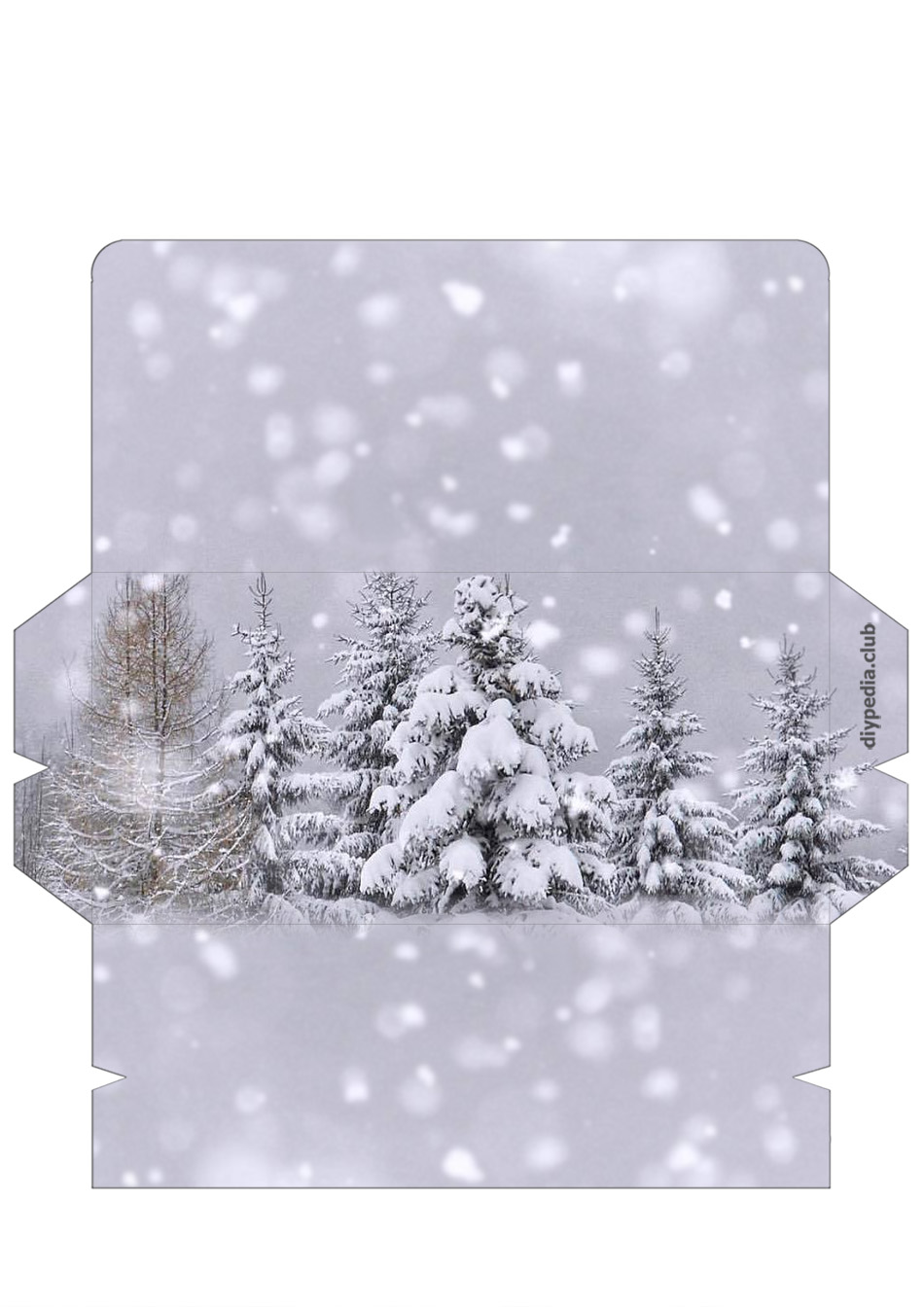 winter free printable envelope templates