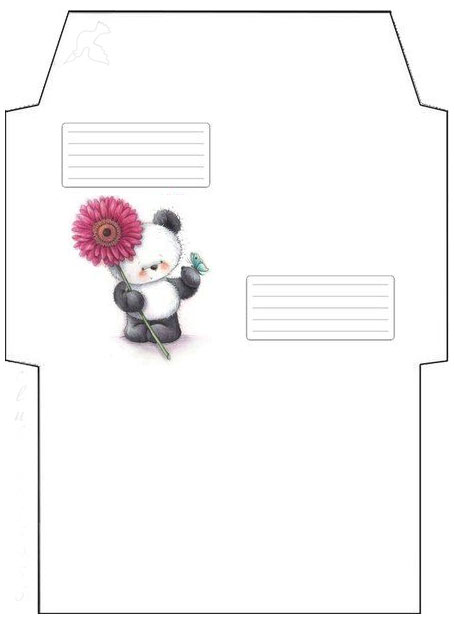 Envelope template for printing