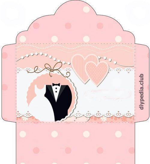 Wedding envelope templates for printout