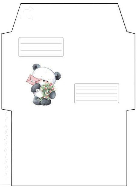 Envelope template for printing on A4