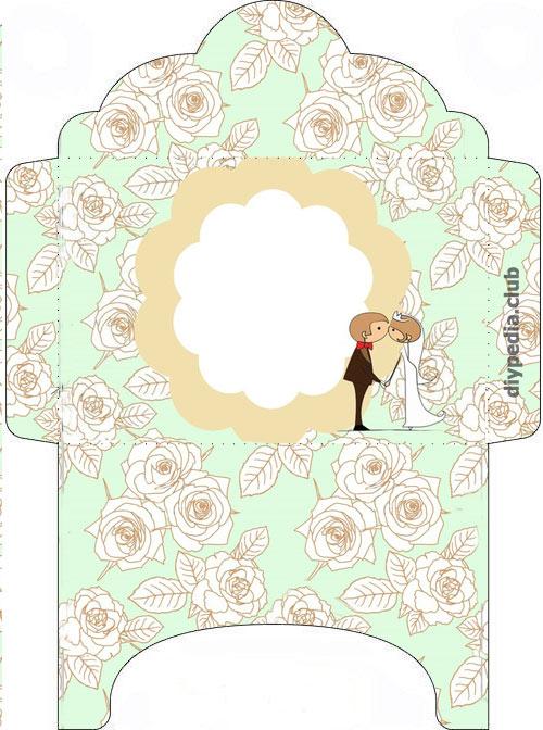 свадебные конверты ручной