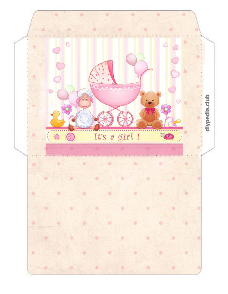 Girl's extract Envelope