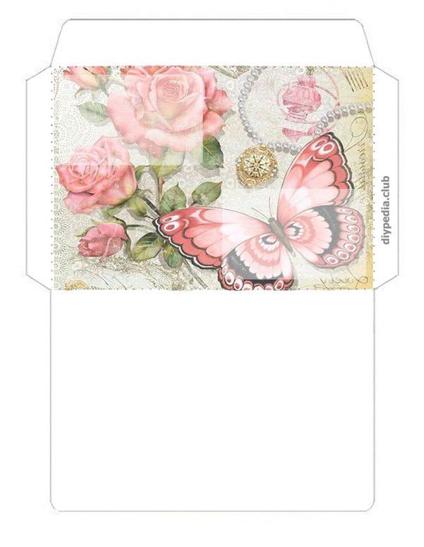 Открытка конверт шаблон, приколами февраля