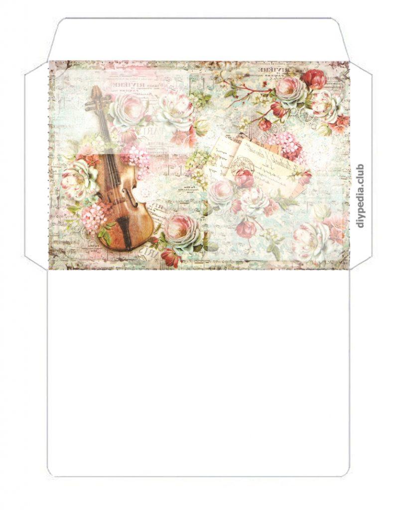 конверт шаблон для печати