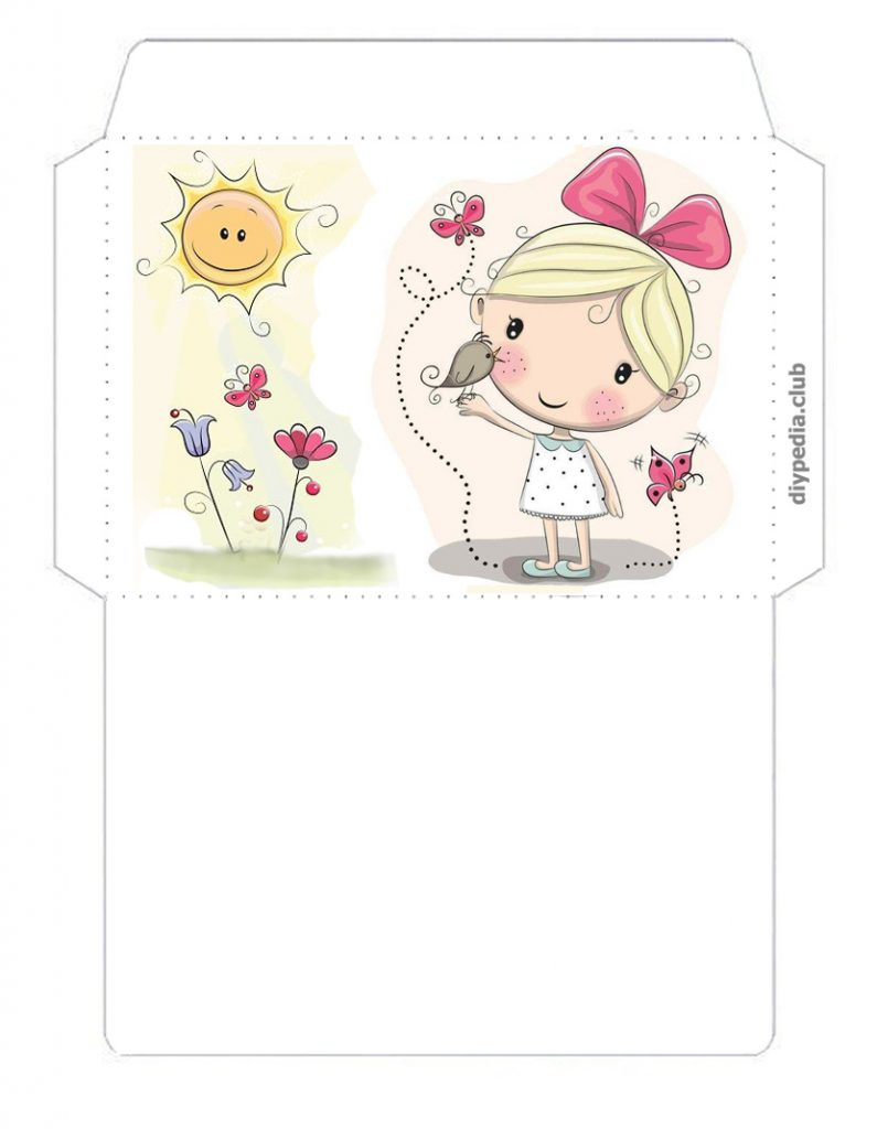 Print Envelope template on printer