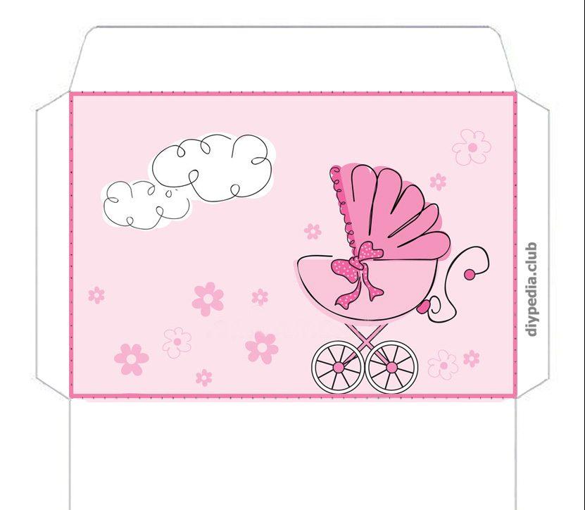 День здоровья, открытка конвертик новорожденной