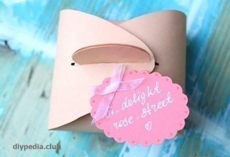 Подарочная коробочка из бумаги своими руками