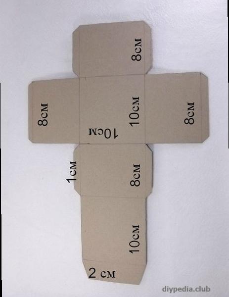 шаблон коробки из бумаги своими руками