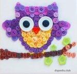 DIY owl of buttons master class