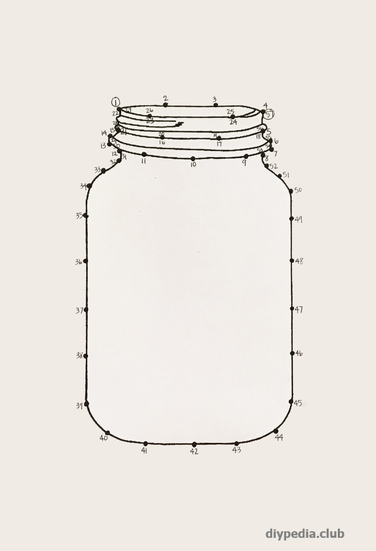 Картина из гвоздей и ниток. Стринг арт схема