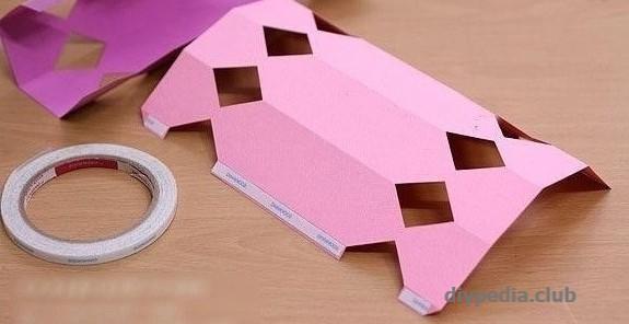 упаковка конфета из бумаги