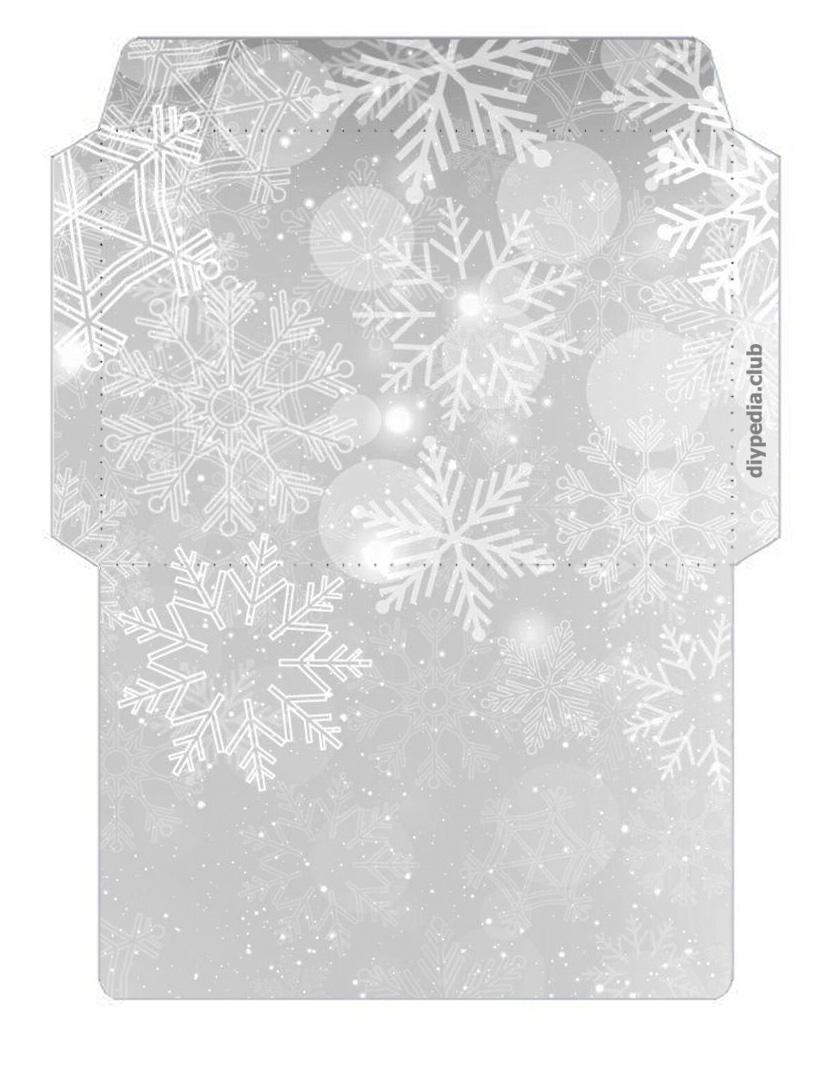 Конверты из бумаги (зимние шаблоны для распечатки)