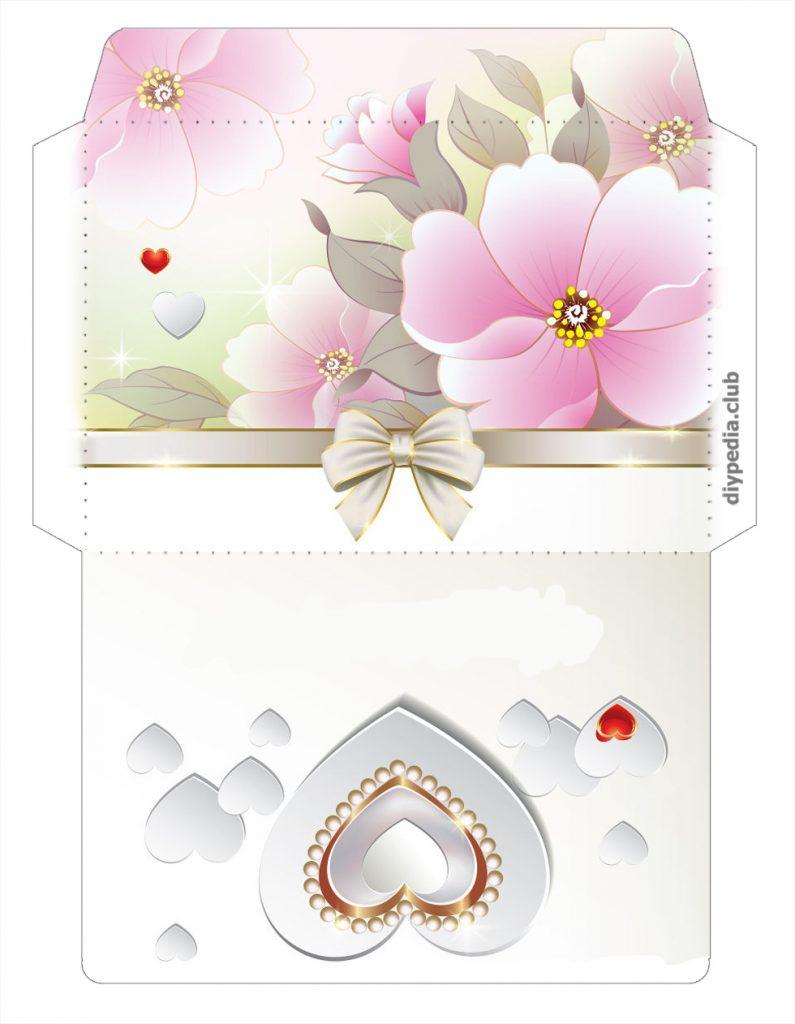 Открытка конверт на свадьбу шаблоны, картинки