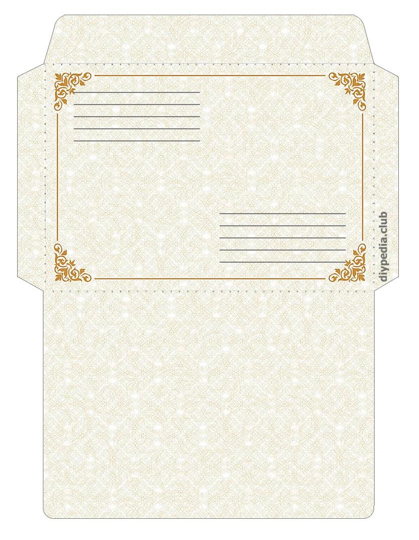 Винтажный почтовый конверт для письма