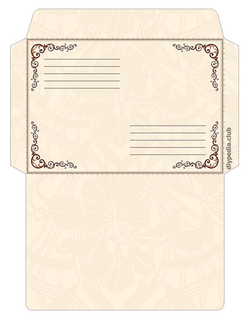 шаблон для конверта