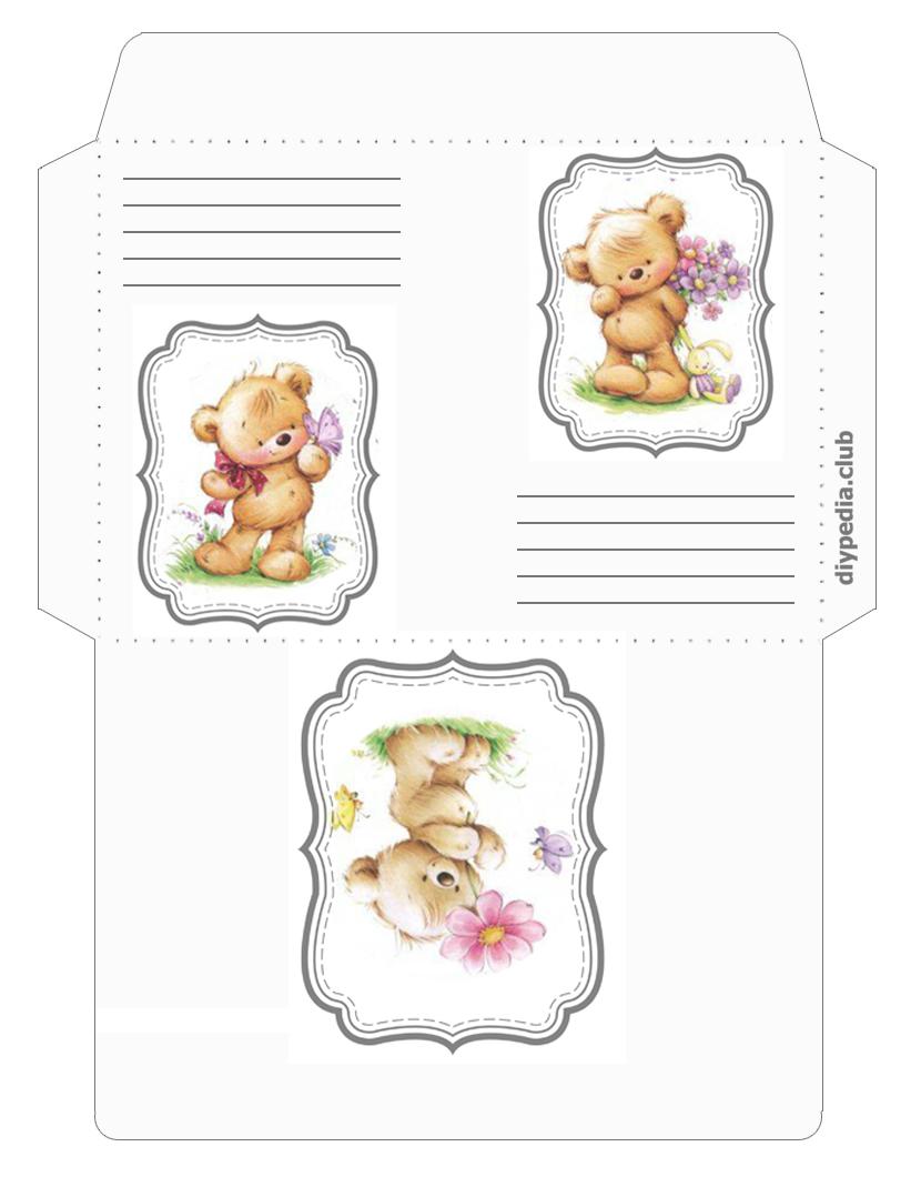 праздничный конверт для письма