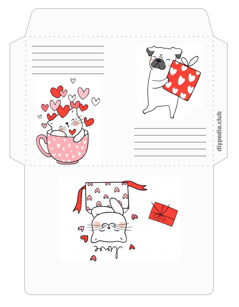 красивые конверты для писем распечатать
