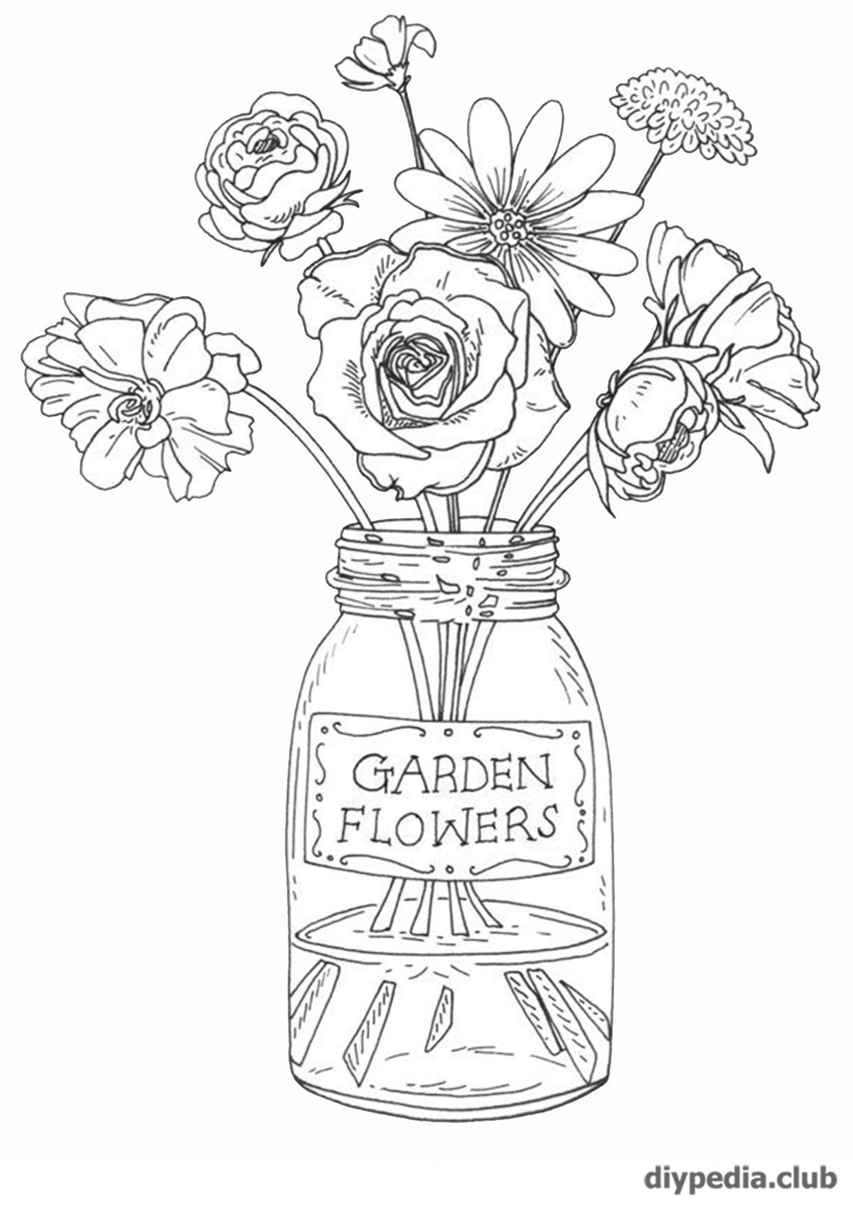 раскраски цветов бесплатно