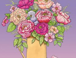 "Картинка-раскраска ""цветы"" на А 4"