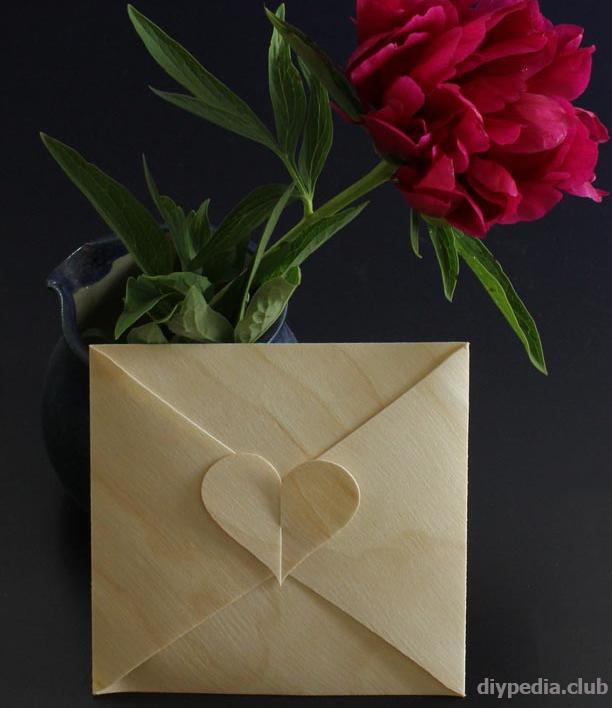 как сделать конверт сердце своими руками без клея