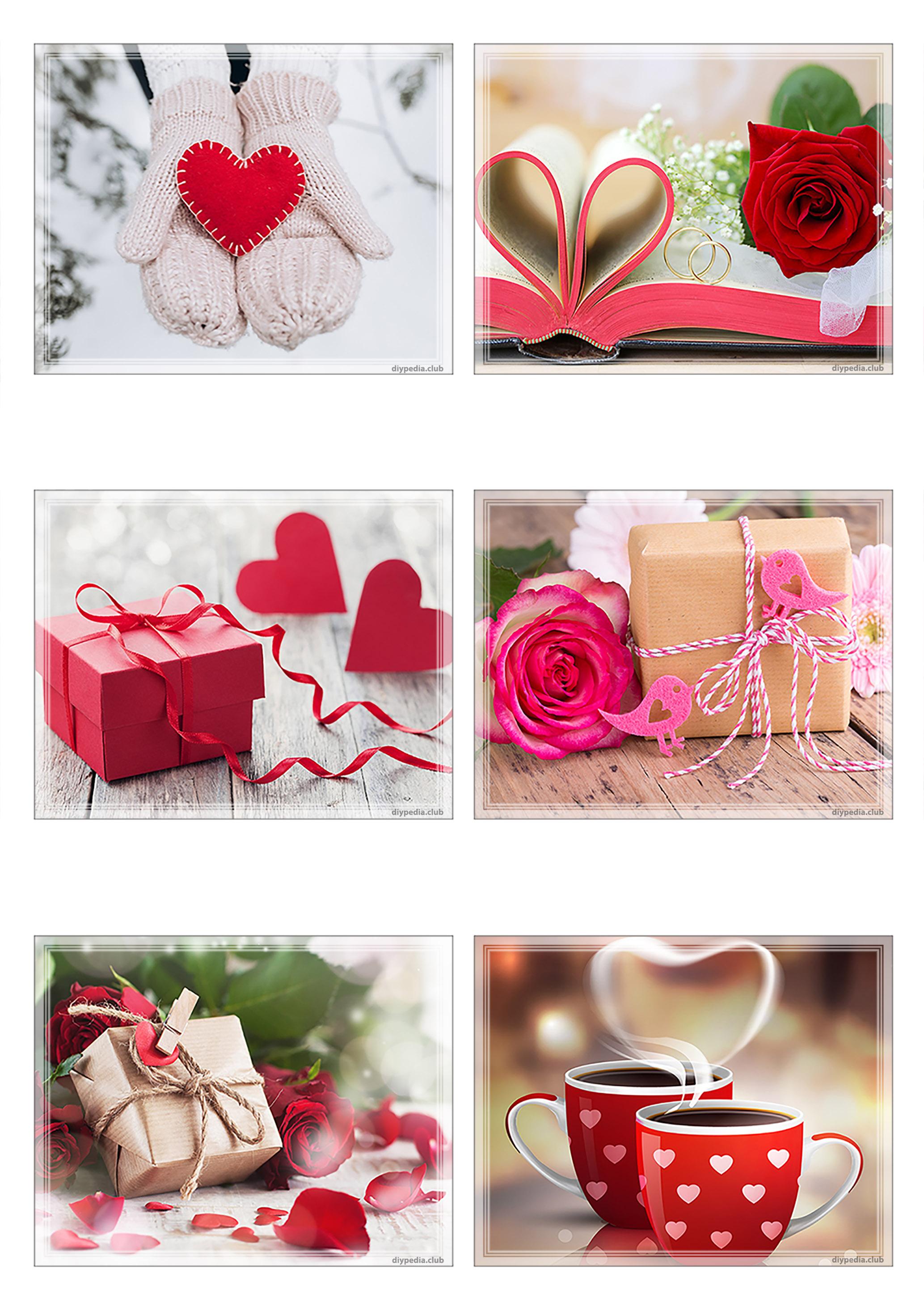 Романтические маленькие открытки